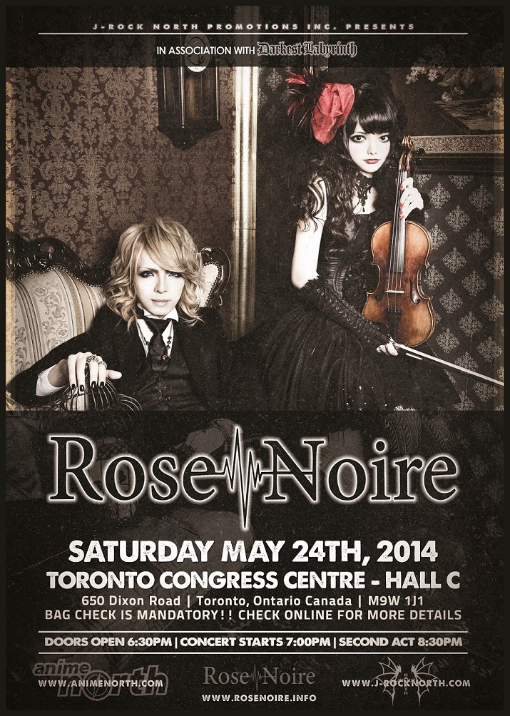 J-rock North Promotions Inc. Presents: Rose Noire At Anime North 2014