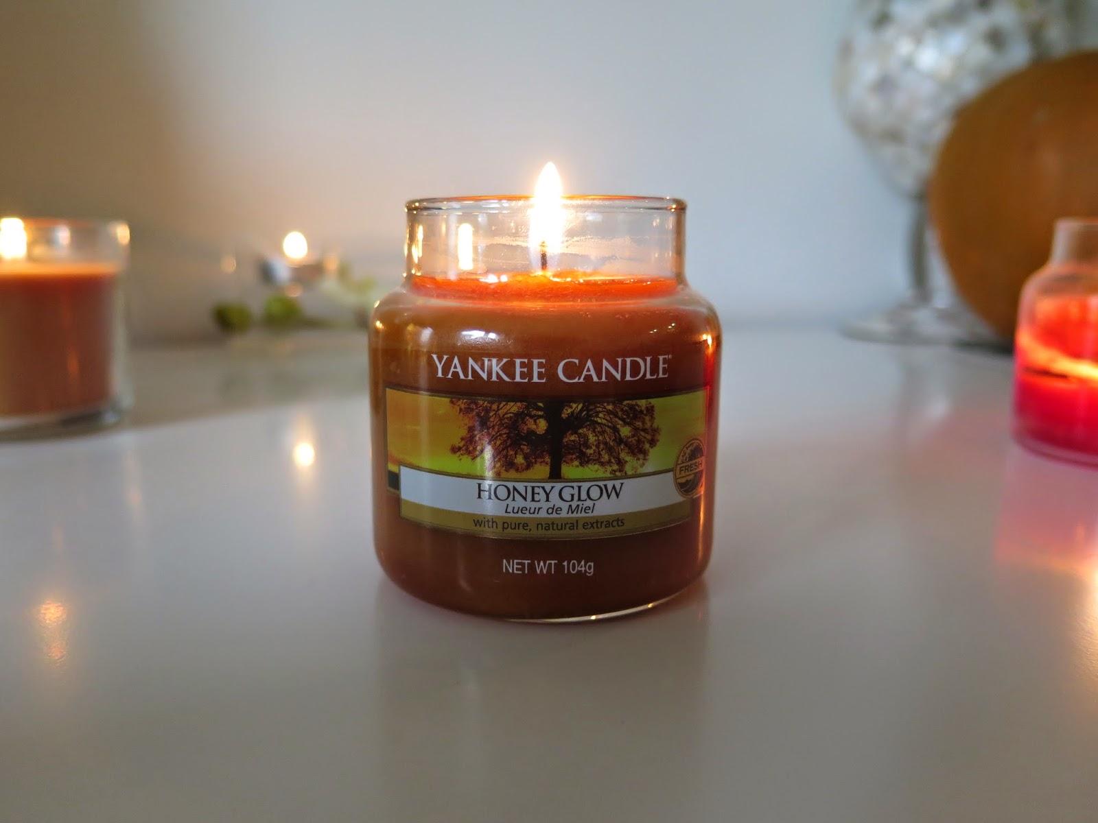 yankee candle, honey glow