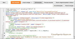 Screenshot to show the features of the new Template HTML Editor