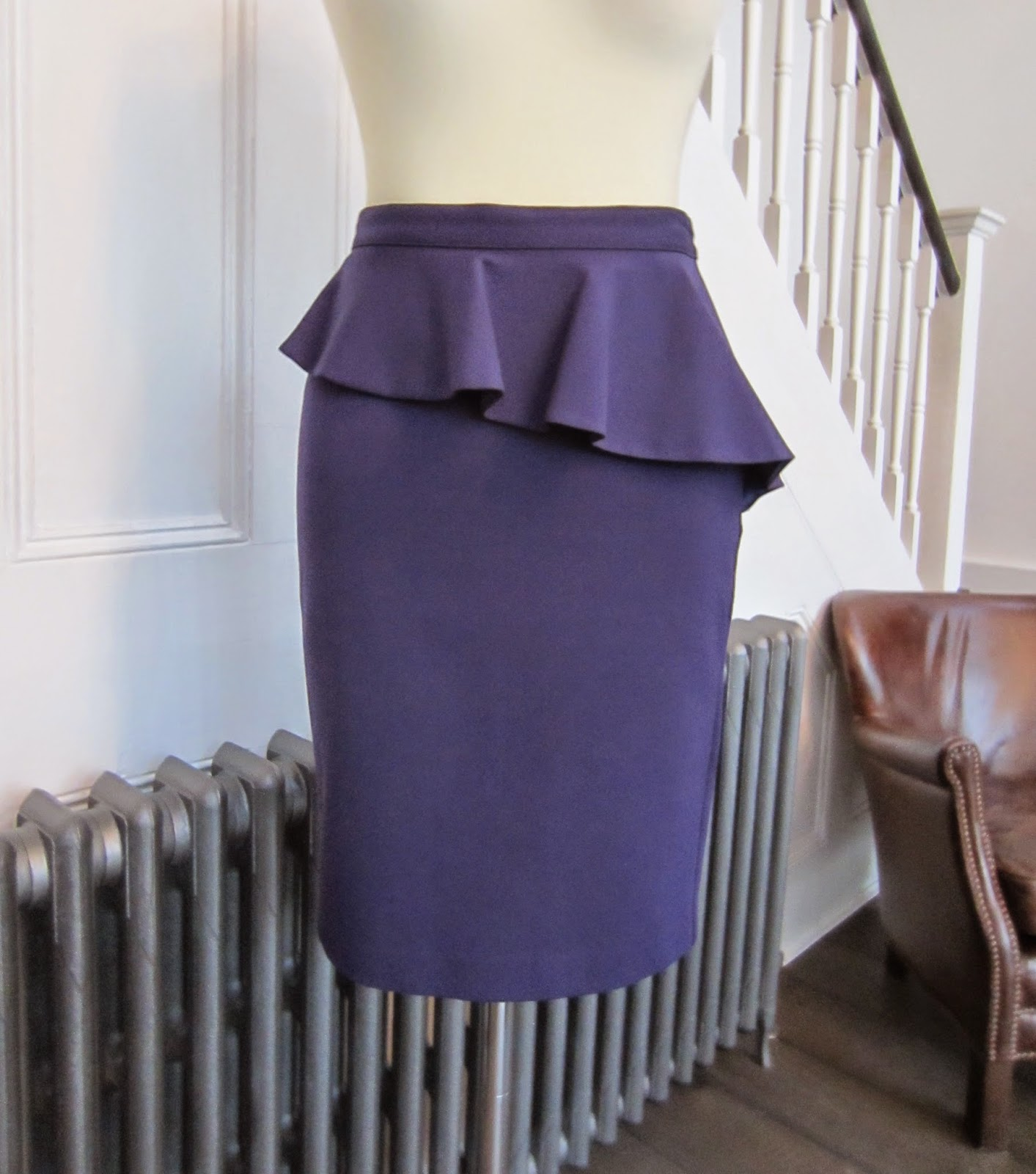 Armani Exchange Purple Skirt with Peplum