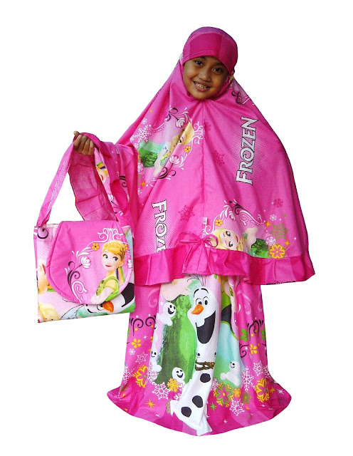 Mukena Anak - Sweet Frozen Pink