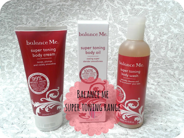 A picture of the Balance Me Super Toning range