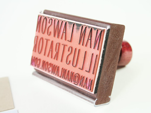 paper pastries: Need a Custom Business Card Stamp?