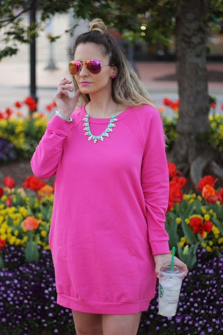 Perry Street Kayla Necklace - Pink Mirror Aviators