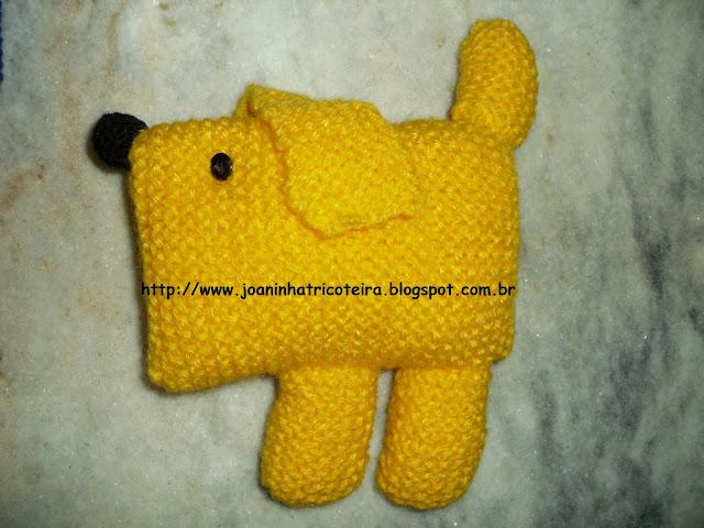 cachorrinho em tricot
