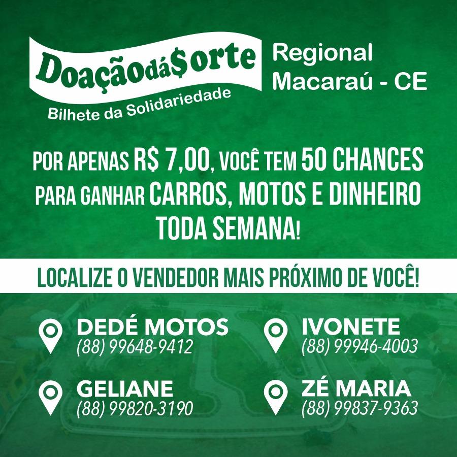 Doação Dá Sorte em Macaraú
