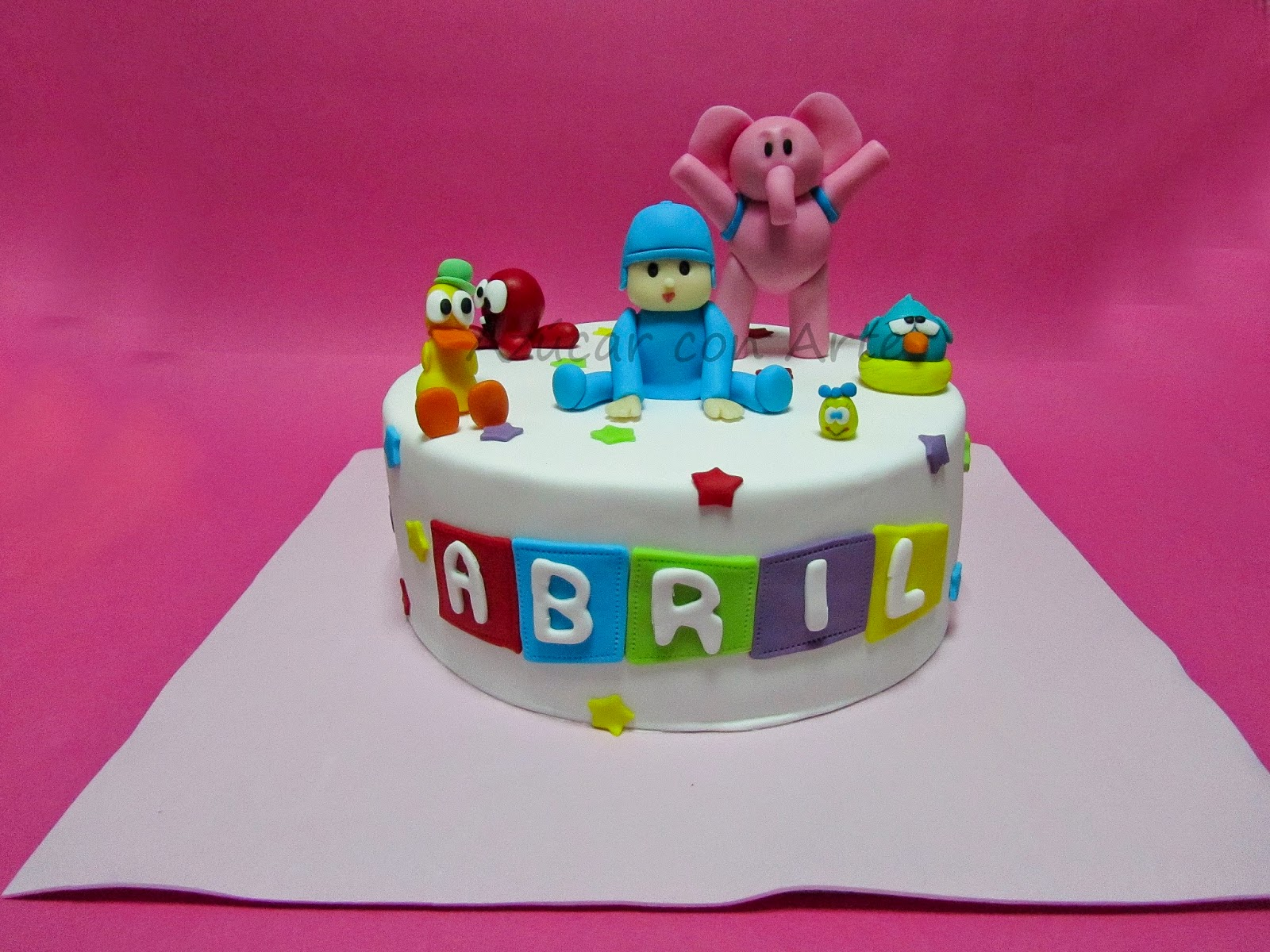 tarta pocoyo, pocoyo cake, sin gluten, gluten free cake | azucar con arte