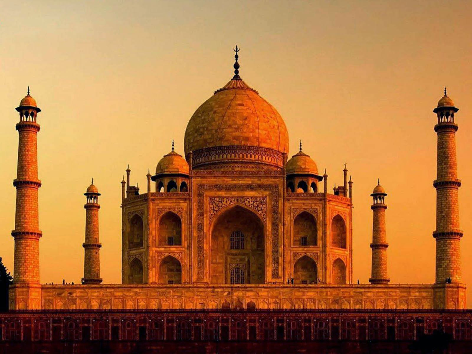 Tajmahal pictures at evening in Agra
