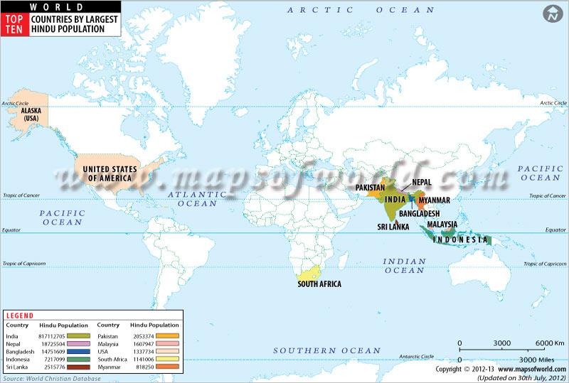 Population Of Hindus Hindu News - Top ten religions in world