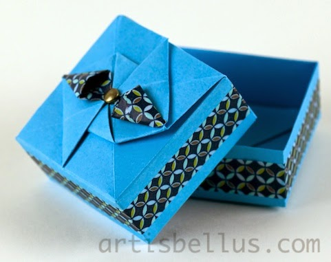 Origami Boxes: Box Decorated with Washi Tape