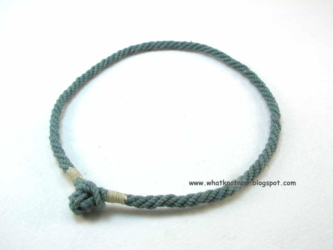 Knots and fiber bracelets: double loop rope bracelet ...