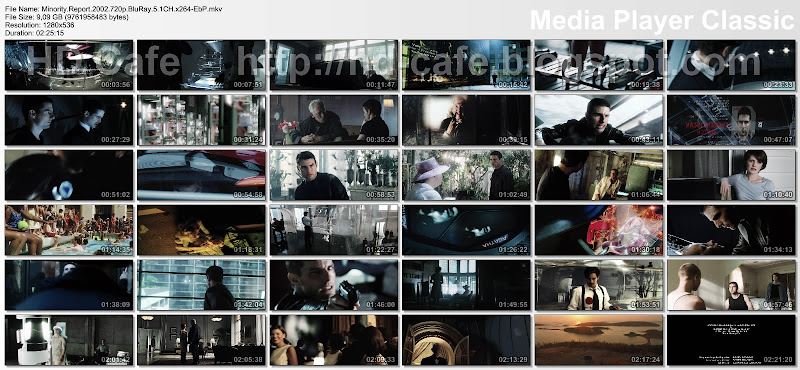 Minority Report 2002 video thumbnails