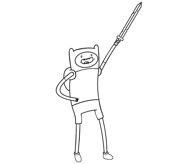 free coloring pages of finn of adventure time