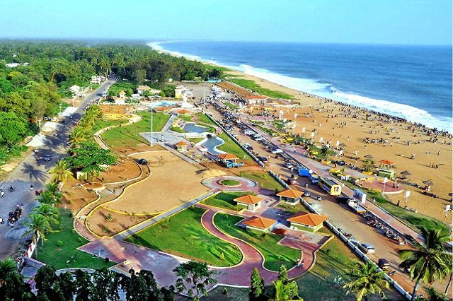 Kollam Beach in Kerala