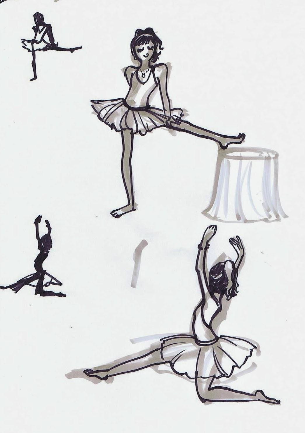 5 minute drawings ~ Ballerina