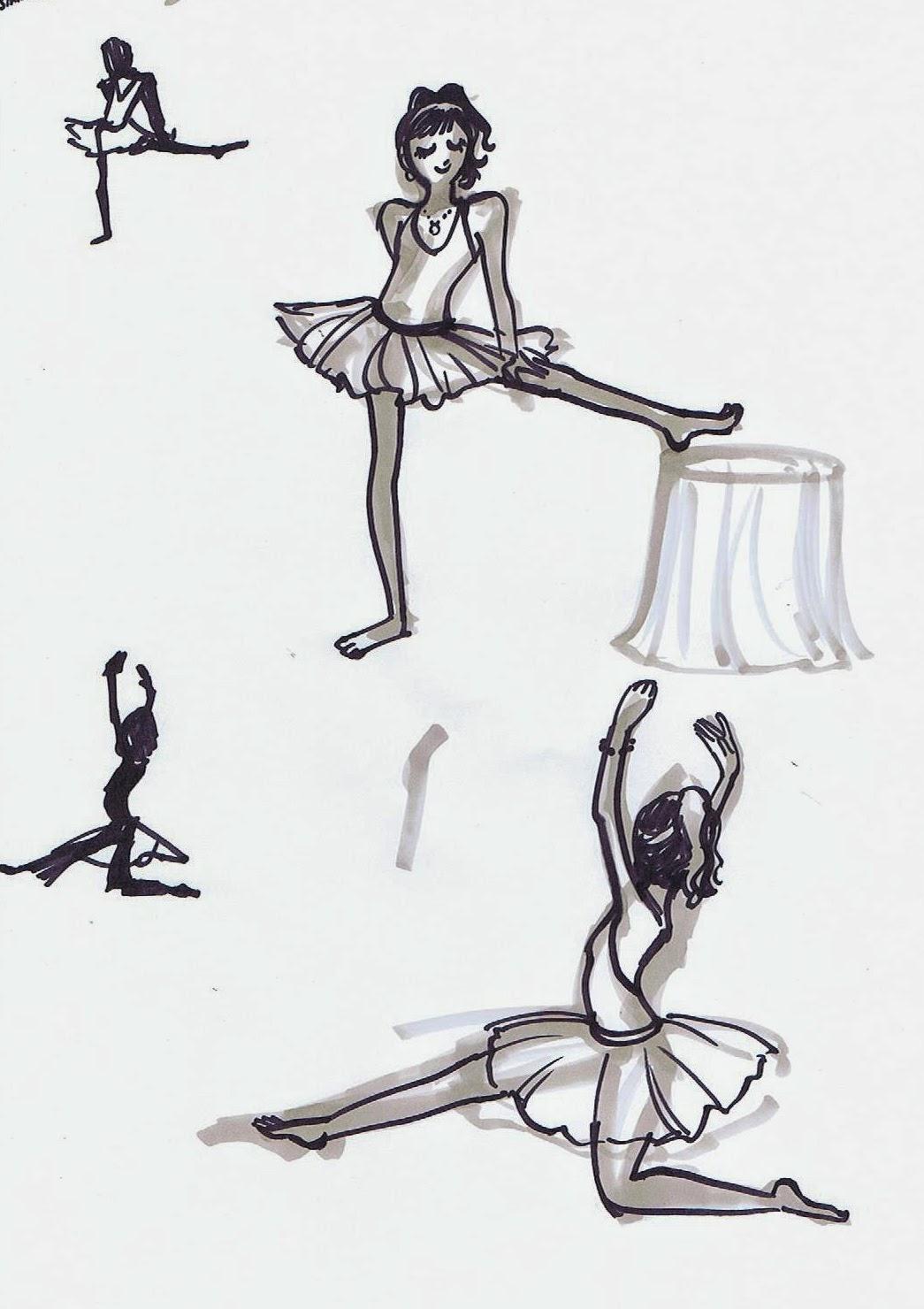 5 minute drawings ~ Ballerina
