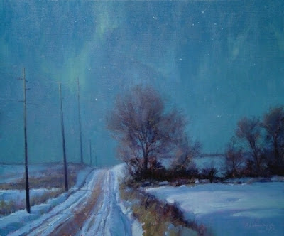 Winter Solstice Nocturne  20x 24  Oil