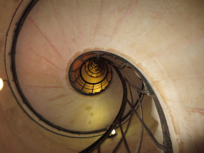Arc De Triomphe spiral staircase, Paris, France www.thebrighterwriter.blogspot.com