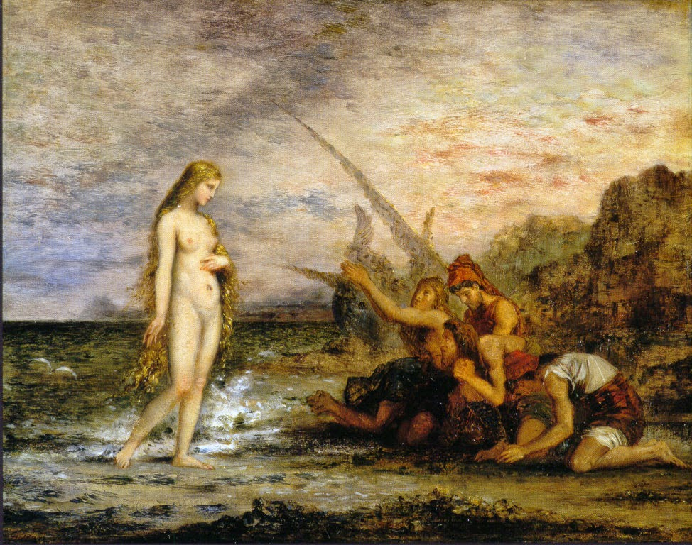 Gustave Moreau, La naissance de Vénus o Vénus et les pêcheurs (ca. 1866)