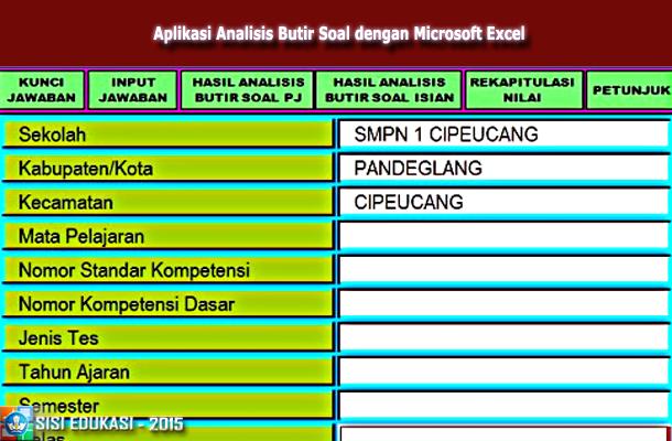 Download Aplikasi Analisis Butir Soal dengan Microsoft Excel