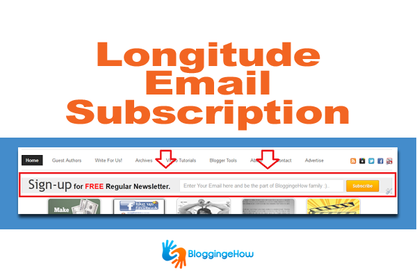 Email subscription widget thesis