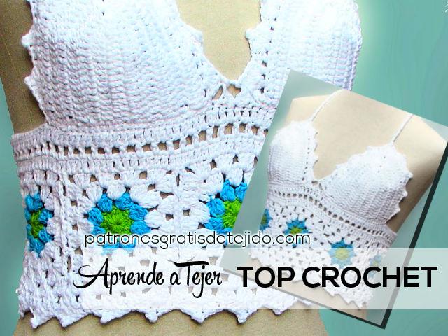 tutorial crochet top de mujer