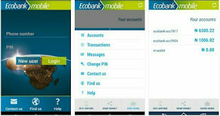 Ecomobile app user interface