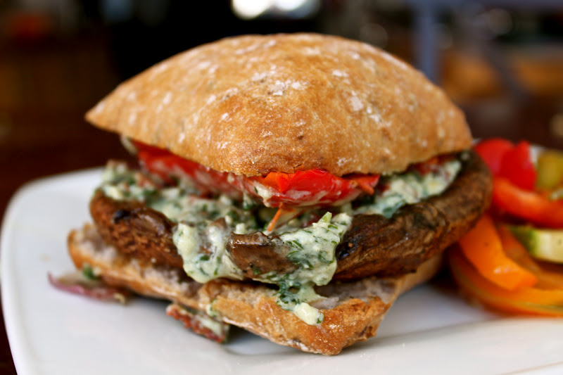Globetrotter's Fare: Portabella Mushroom Burger with Sundried Pesto ...
