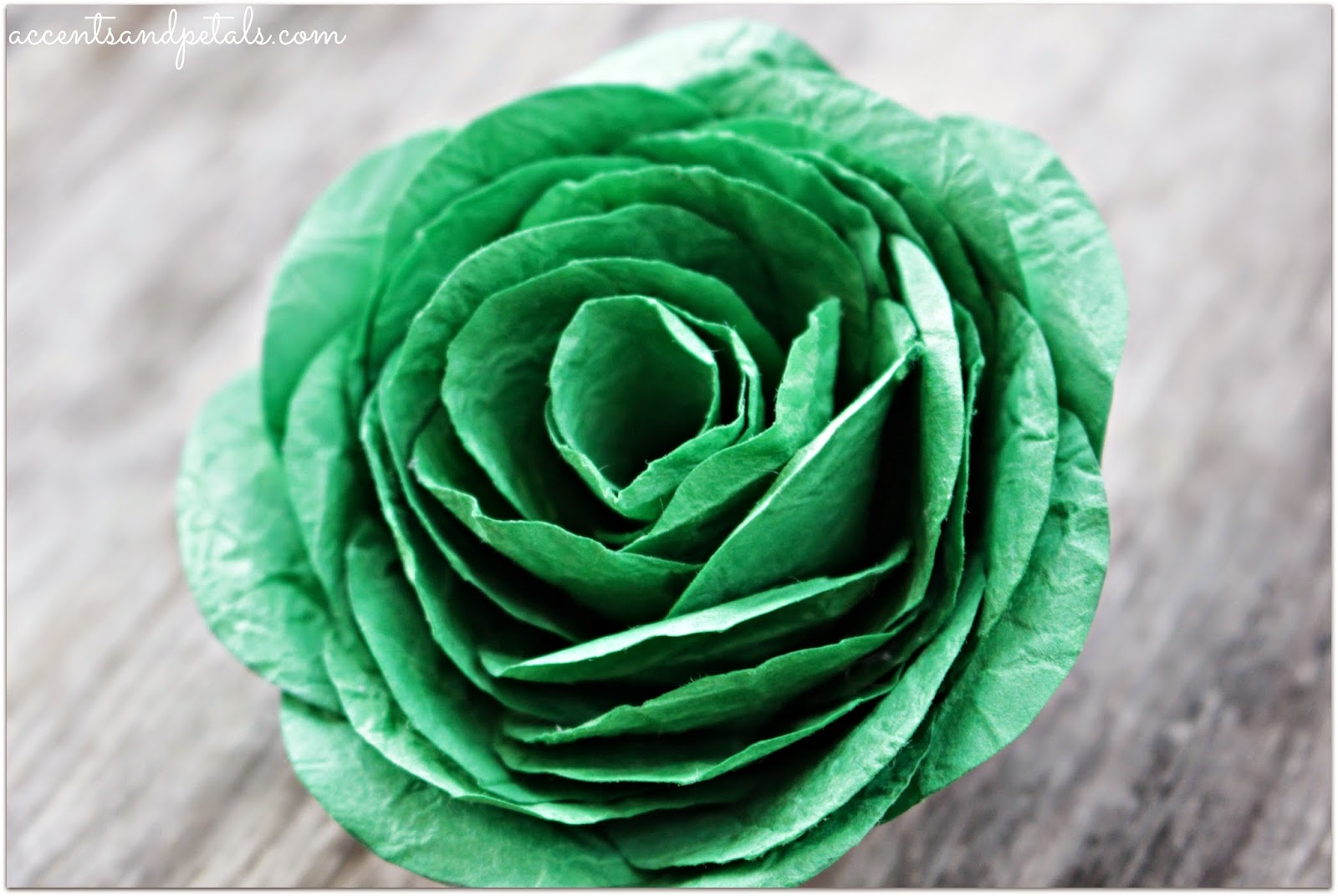 Diy How To Make A Cabbage Rose From Crumpled Paper Reduce Reuse