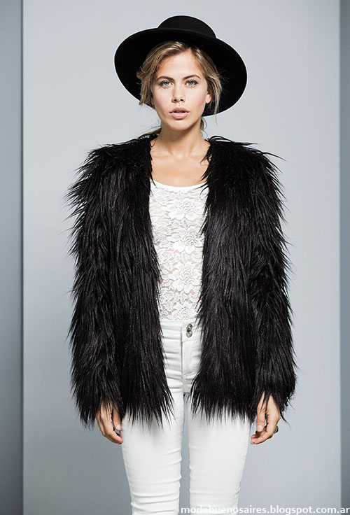 Tapados de piel invierno 2015 Tabatha. Moda mujer otoño invierno 2015.