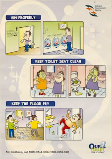 Singapore toilet training sign