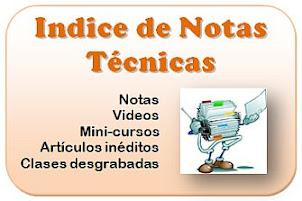 Indice de notas técnicas