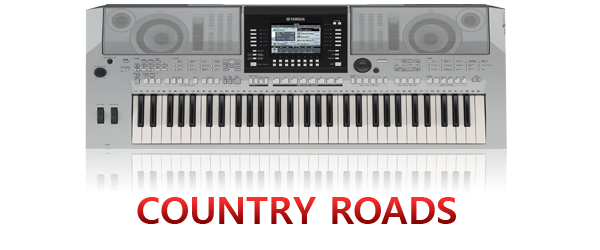 country roads piano notations and chords