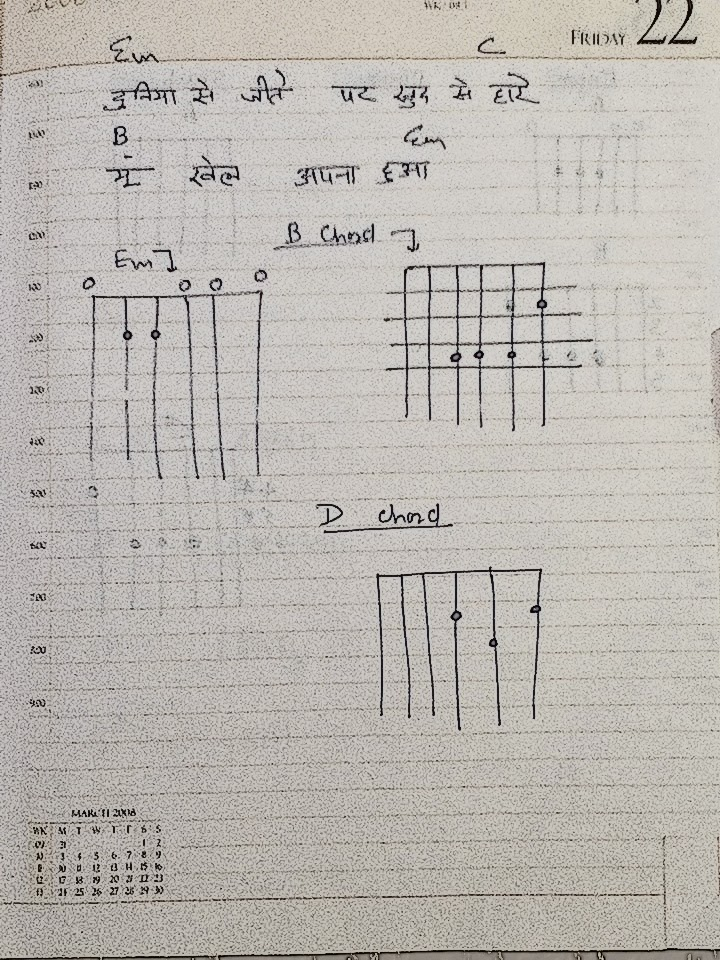 My Guitar Notes 2014