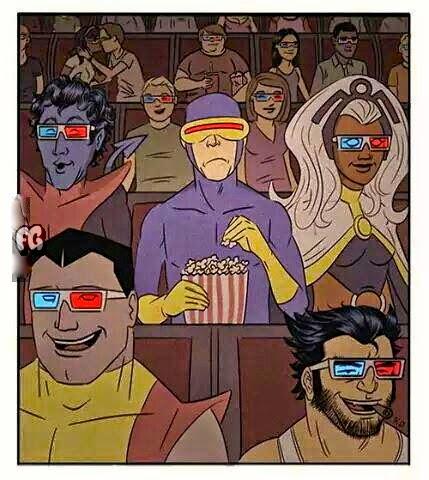 Cyclops Watching 3D Movie Lol