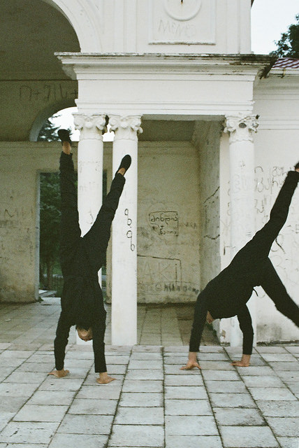 Gymnasts model Israeli fashion by Maya Bash, shot by David Meskhi