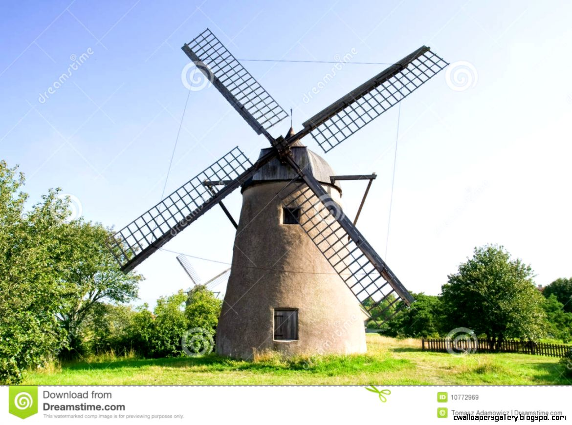 Old Dutch Windmill Field Stock Photos Images  Pictures – 1846