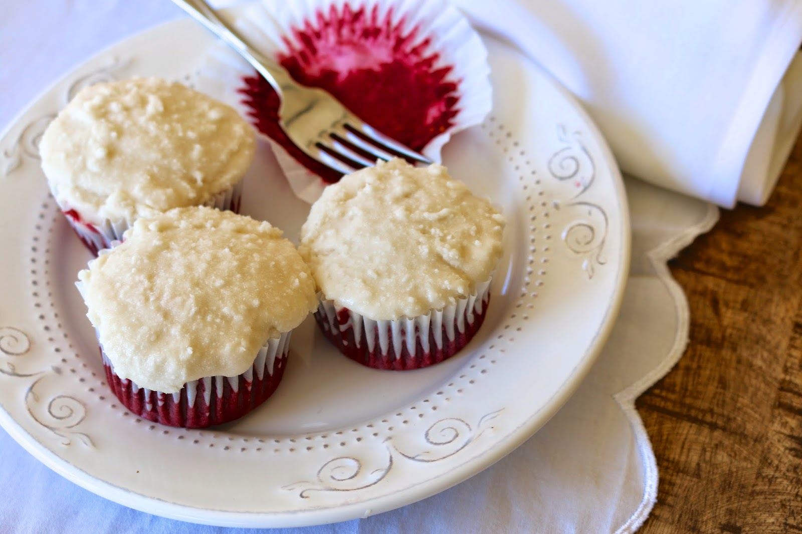 Vegan Vanilla Beet Cupcakes with Vegan Vanilla Coconut Frosting: Naturally colored with beets and only mildly sweet, these whole grain, plant-based cupcakes are certainly a reason to celebrate.