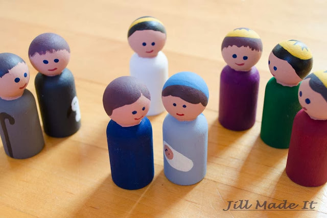 Wooden Peg People Nativity Set