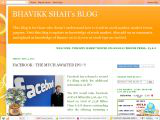 BHAVIKK SHAH&#39;s BLOG
