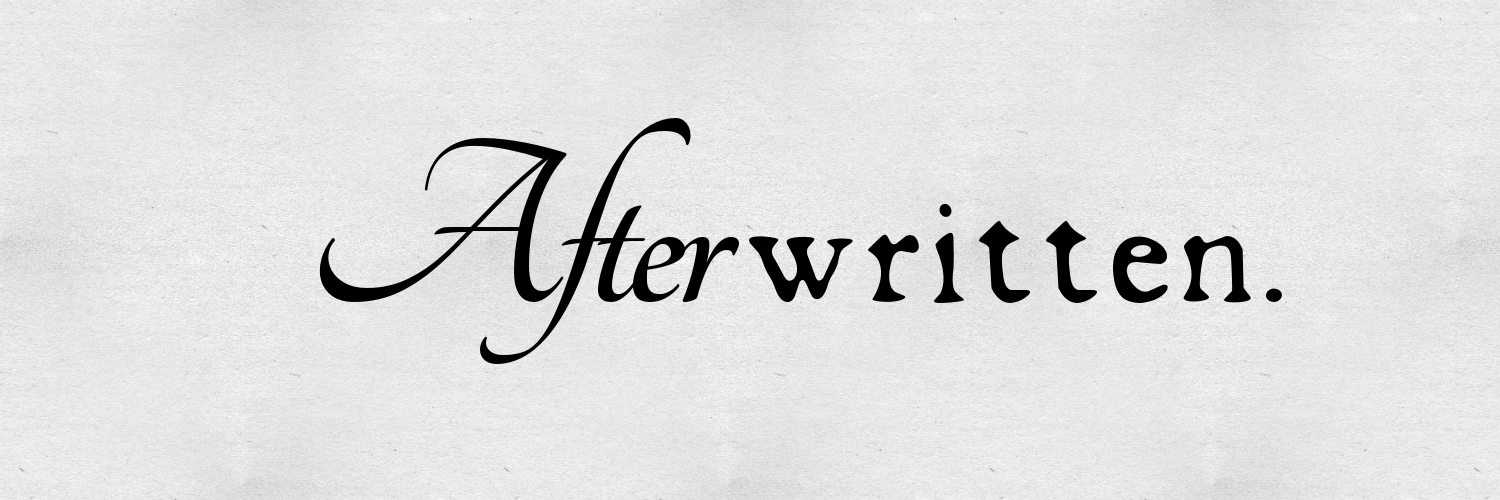 http://afterwritten.wordpress.com/