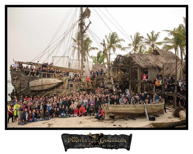 Primera foto de familia de 'Pirates of the Caribbean: Dead Men Tell No Tales'