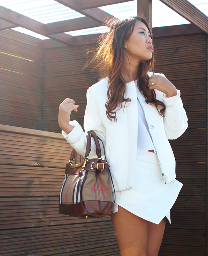 Beyond Da Closet , White with touch of Burberry- zara Binita Sunuwar from beyond the closet