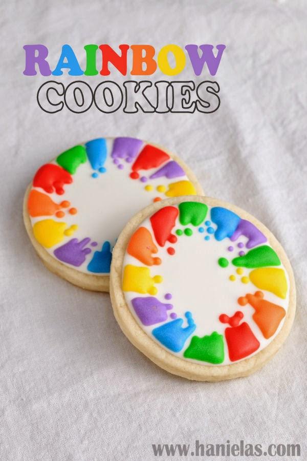 Haniela's: Pretty Rainbow Cookies, Rainbow You Tube Collaboration
