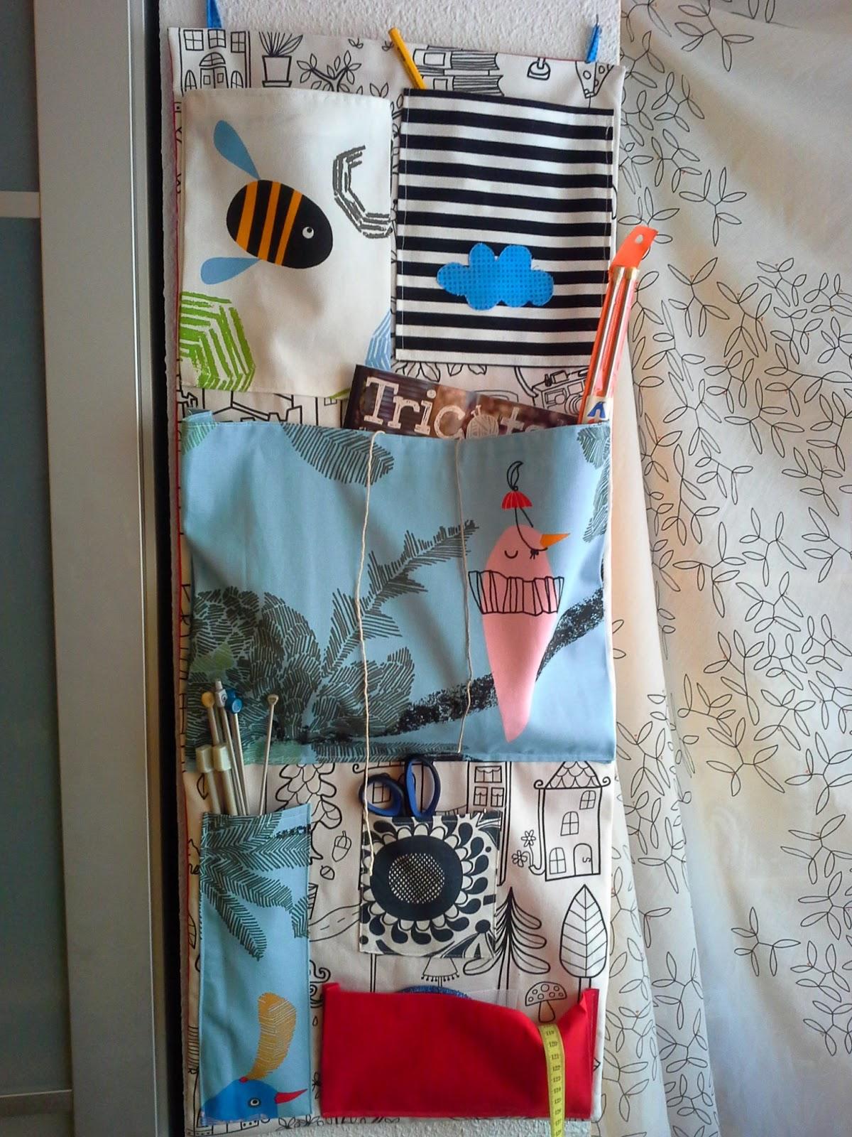 Alfamatic aprende a coser haciendo un organizador de pared con sobrantes de tela - Bolsos de tela hechos en casa ...