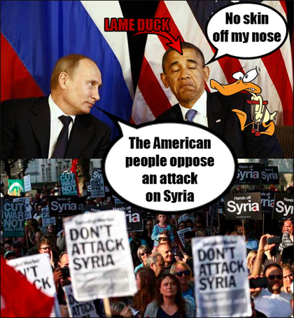 Vladimir Putin to Obama: No Attack on Syria