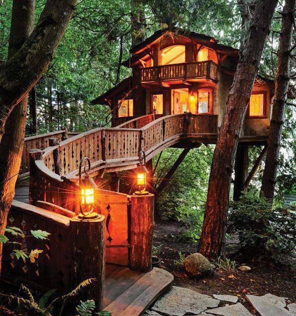 design rumah atas pokok