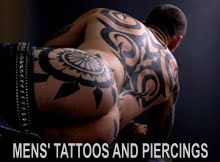 MENS' TATTOOS AND PIERCINGS