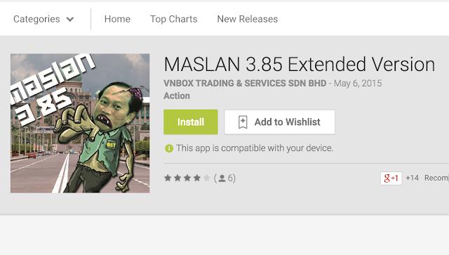 PARAH Ahmad Maslan Dijadikan Permainan Video Untuk Android Pula