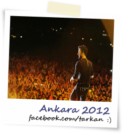 Tarkan facing large crowd in Ankara for Fanta Youth Fest 2012